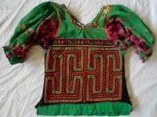 Kuna Indian Hand & Machine-Stitched Hermit Crab MoIa Blouse-Panama 18040315L