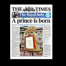 Dollshouse Miniature Newspaper - The Times 23 July 2013 Royal Baby