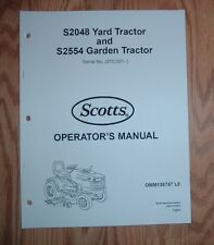 SCOTTS S2554 GARDEN  TRACTOR OWNER OPERATOR MANUAL