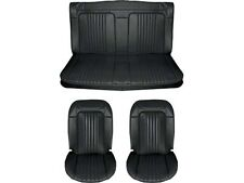 1971 & 1972 Chevelle Standard Seat Upholstery Full Set, Coupe, Black