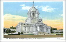 Washinton USA postcard ~1930 Administration Building State Capitol Olympia