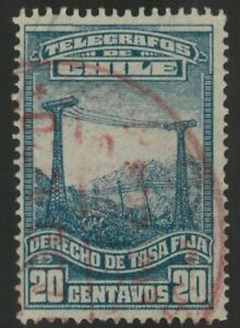 Chile 1929 #T21 Revenue a los Telegramas Tasa Fija Used (A622)