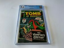 TOMB OF DARKNESS 12 CGC 9.2 VAMPIRE COFFIN UNDEAD MARVEL COMICS 1975