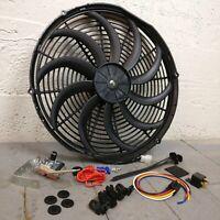 "1966-1977 Ford Bronco Electric Radiator Fan 16/"" Low Profile 120W /& Relay Kit"