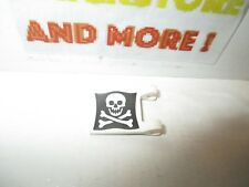 Lego - 1x Flag Drapeau 2x2 Square Skull Crossbones (Jolly Roger) Pattern 2335p30