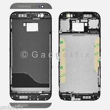 USA Gray HTC One M8 Middle Housing Chassis LCD Touch Screen Holder Frame Bezel