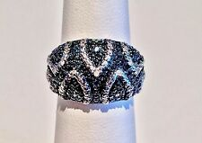 3/4 Ct. BLUE DIAMOND RING, PLATINUM, STERLING SILVER .925 SIZE 6