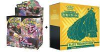 Sword and Shield Rebel Clash BOOSTER BOX + ELITE TRAINER BOX COMBO SHIPS 5/1!