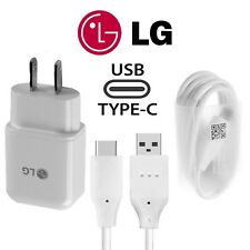 OEM For LG V40 30 20 G7 G6 G5 ORIGINAL LG Rapid Fast Wall Charger + Type C Cable