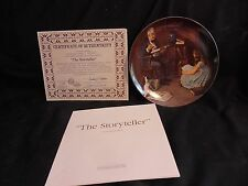 Bradford Exchange Plate - Normal Rockwell- The Storyteller - w Coa