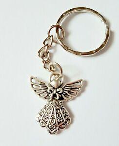 Guardian Angel Protect Protection Faith Charm Keyring Keychain Girls Gift UK