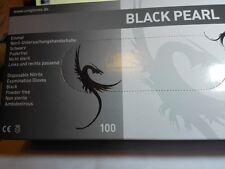 NITRIL HANDSCHUHE BLACK PEARL 100xSt.ANGERAUHT TATTOO-XL;L,M,S