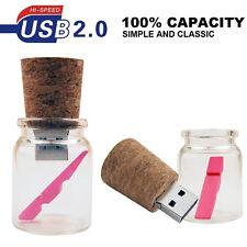 Nuovi BELLISSIMI GLASS DRIFT BOTTIGLIA 16GB USB 2.0 Memory Stick Flash Pen Drive
