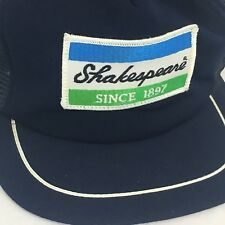 77fb0fad295 Vintage Shakespeare Fishing Trucker Hat Mesh Back Snapback Embroidered Patch