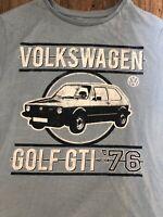 VW GOLF GTI T Shirt Sky Blue  Medium