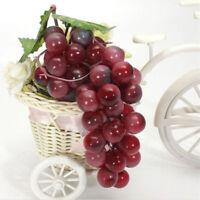 Artificial Plastic Grapes Fake Fruit Food Bunch Lifelike Oranment 01