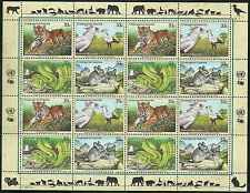 Timbres Animaux Nations Unies New York F 803/6 ** année 1999 lot 4163