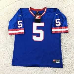 Vintage NIKE Kerry Collins #5 New York Giants NFL Jersey Size Large Made USA NEW