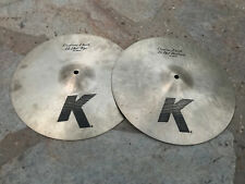 "Zildjian 14"" K Custom Dark Hi Hats hihat Cymbals"