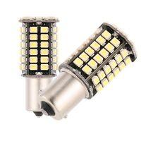 2PCS BAY15D 1157 White Car Tail Stop Brake Light Super Bright 80SMD LED Bulb 12V