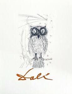 Owl, Offset Lithograph, Salvador Dali