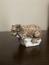 """Harmony Kingdom Treasure Jest """"Sweet Spot� Tjle2 - Clouded Leopard On Rock"""