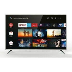 """TCL 43EP658 43"""" Smart 4K Ultra HD Android TV"""