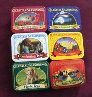 Celestial Seasonings lot of 6 mini tea tins