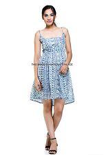 Women Summer Beach Sundress Floral Tank Elegant Mini Dress Sleeveless Skater