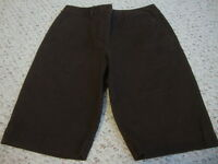 Women's TALBOTS petites brown stretch shorts, 8