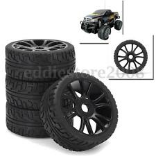 4Pcs 17mm Hub Wheel Rim Tires Tyre 1:8 Antenna RC Remote Control Car Buggy HSP