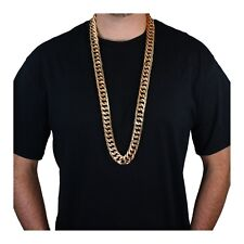 "38"" Heavy Rope Gold Pimp Chain Necklace Old School Rapper Costume Jewelry"
