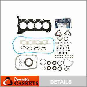Fit 09-16 Toyota Corolla Matrix Scion xD Pontiac Vibe 1.8L Full Gasket Set 2ZRFE