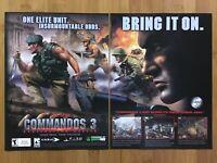 Commandos 3: Destination Berlin PC 2003 Vintage Print Ad/Poster Art Official