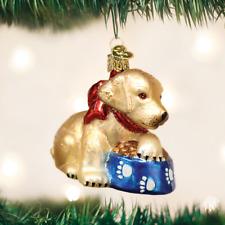 *Labrador Pup* Dog [12458] Old World Christmas Glass Ornament - NEW