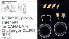 Mini World Models 1/72 CANADAIR CHALLENGER AIR INTAKES PITOT TUBE & ANTENNA Set