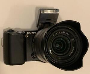 Sony Alpha NEX-5 NEX-5D Lens Kit Camera and accessories Tested Working Good F/S