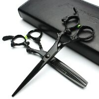 "6"" Dragon Handle Hairdressing Hair Cutting Thinning Shears Barber Salon Scissors"