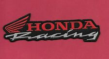 "New Honda Racing 'Black' 1 3/4 X 6""  Inch  Iron on Patch Free Shipping"