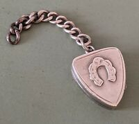 Victorian Silver Locket Horseshoe - Pocket watch Fob Albert Chain Chester 1900