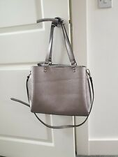 Metallic Grey Over The Shoulder Bag
