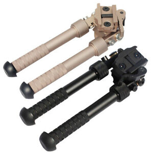 "4""-9"" QD Tactical Foldable Rifle Bipod 360° Picatinny Rail Pistol Hunting Mount"
