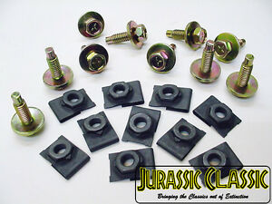 """20x 46-80 Ford Linc Merc 5/16"""" J Type Floating Cage U Nuts & 5/16 Hex Head Bolts"""