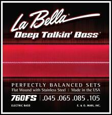 La Bella Deep Talkin Bass Flat Wound Bass Guitar Strings 760FS 45 - 105