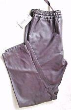 LEON & HARPER aubergine Cuir Avec Pantalon-Taille L