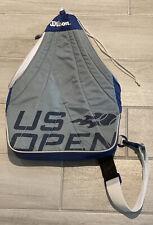 Usta Wilson Us Open Tennis Sling Pack Bag Backpack Blue White Grey 2009