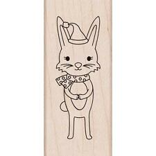Hero Arts Wood Mounted Rubber Stamp Winter Bunny Holiday