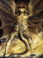 William Blake 'The Red Dragon' - FINE ART PRINT Art Paper Canvas Print Quality