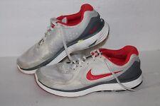 Nike Lunarswift + Running Shoes, #386370-102, Lt Grey/Red/Grey, Women's 8.5