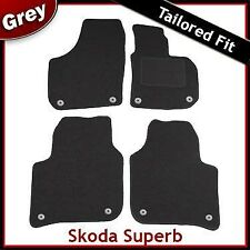 Skoda Superb Mk2 2008-2015 Fully Tailored Fitted Carpet Car Mats GREY